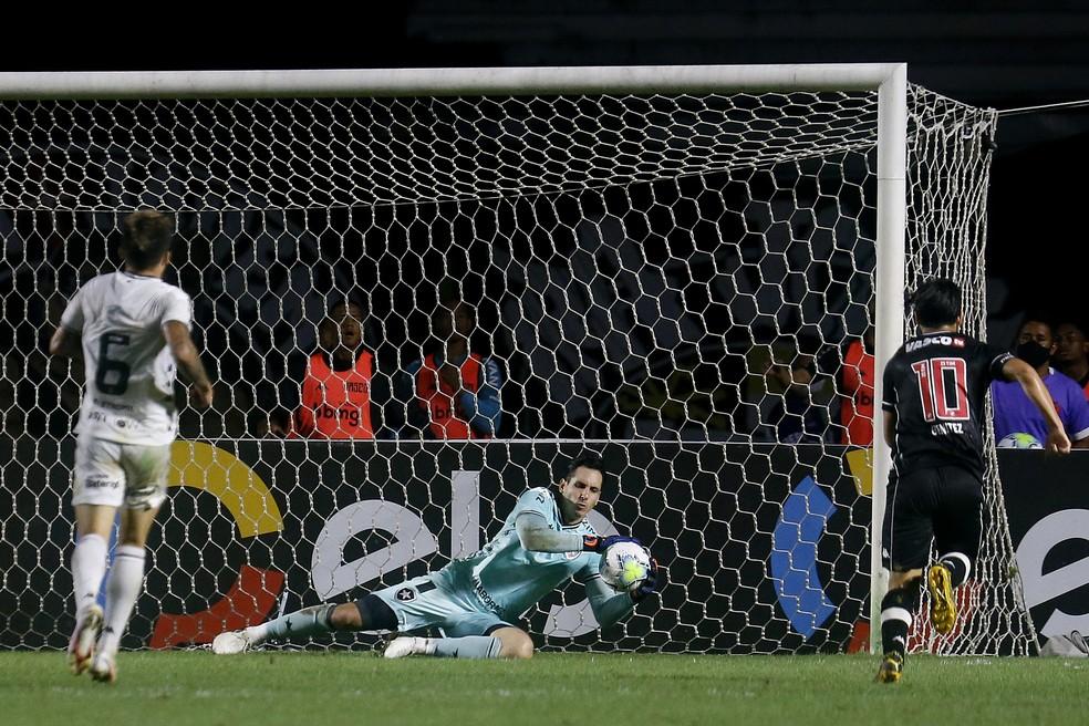 Último jogo de Gatito Fernández pelo Botafogo foi contra o Vasco, pela quarta fase da Copa do Brasil — Foto: Vitor Silva/Botafogo