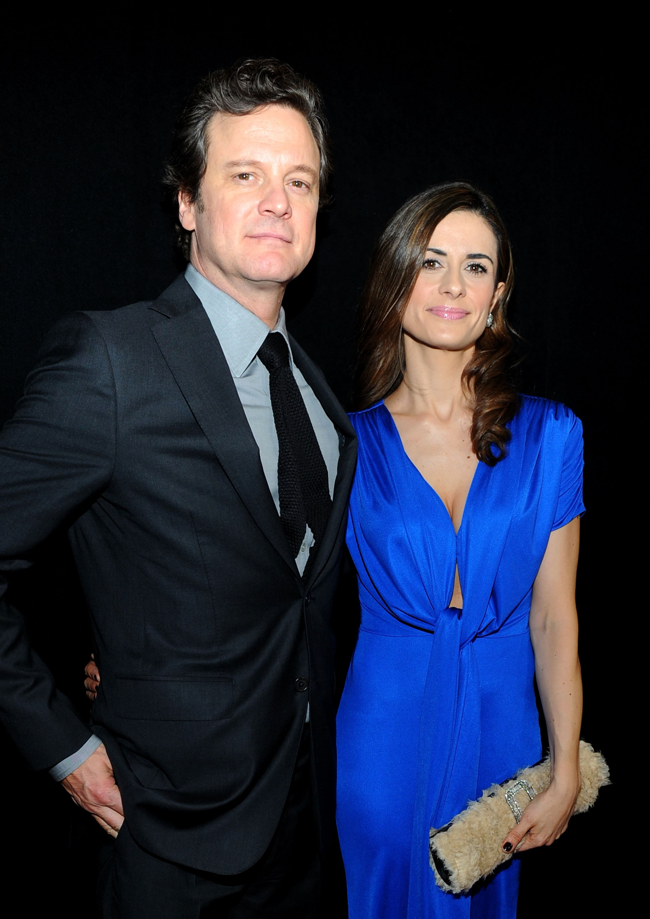 O ator Colin Firth e a produtora de cinema Livia Giuggioli (Foto: Getty Images)
