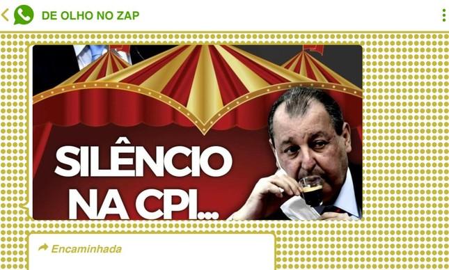 Reprodução de mensagens que circulam nas redes bolsonaristas ironizam CPI da Covid