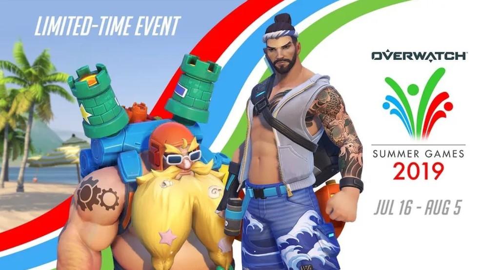 A edição 2019 dos Jogos de Verão traz sete novas skins, sendo quatro lendárias — Foto: Divulgação/Blizzard