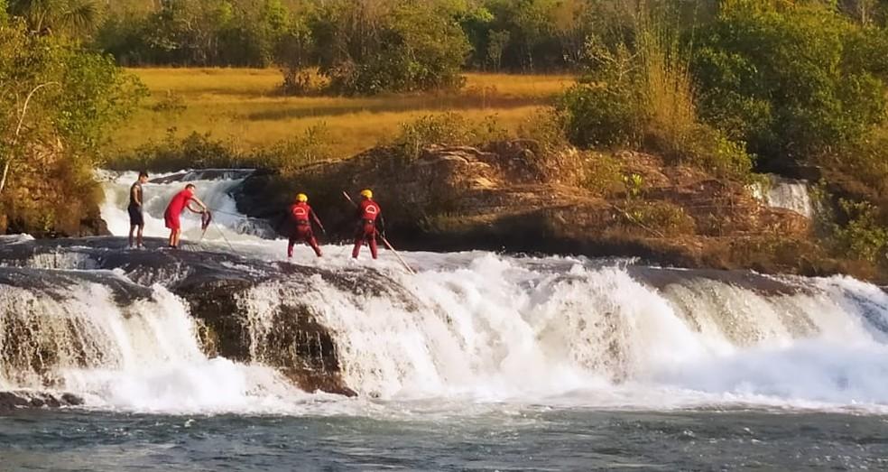 Fabrício de Jesus Santos da Silva, de 22 anos, desapareceu na Cachoeira da Mulata — Foto: Corpo de Bombeiros