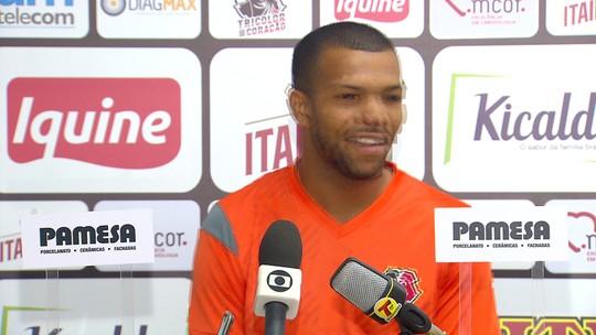 """Vitão fala sobre o golaço marcado pelo Santa Cruz: """"Pensei a noite todinha"""""""