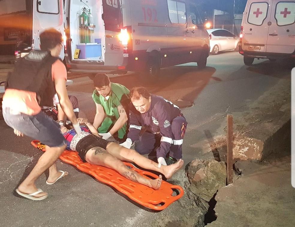 O estado de saúde da vítima não foi informado — Foto: Rafaela Duarte