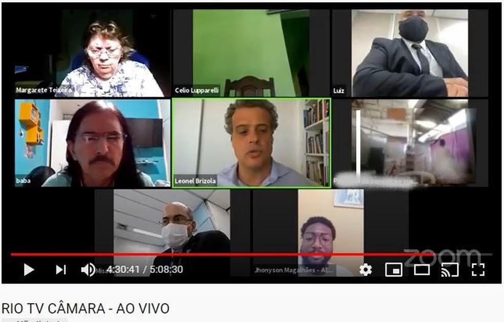 Cena de sexo surpreende vereadores do Rio durante reunião virtual — Foto: Reprodução