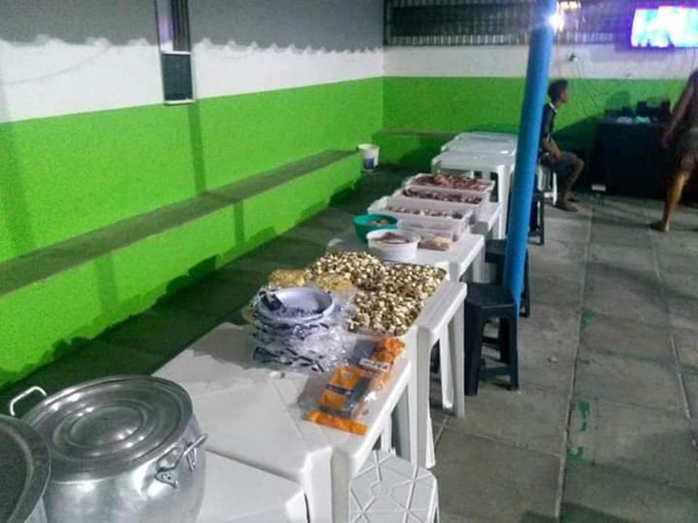 Festa de Natal da Penitenciária Juiz Plácido de Souza — Foto: WhatsApp/Reprodução