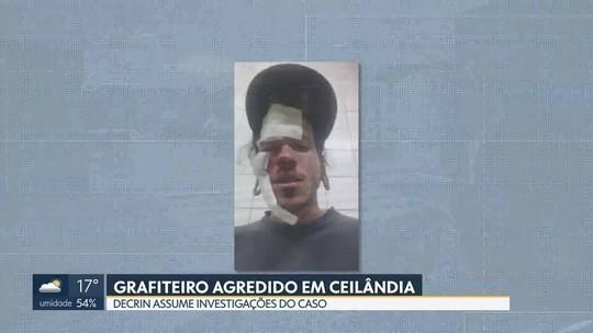 Decrin assume investigações de grafiteiro agredido em Ceilândia