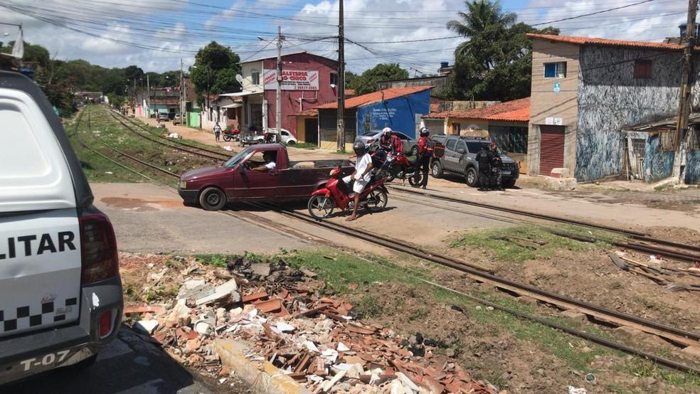 Operação Concórdia, nesta quinta-feira (14), no Passo da Pátria, na Zona Leste de Natal. — Foto: Geraldo Jerônimo/Inter TV Cabugi