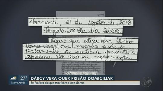 Presa e acusada de corrupção, Dárcy Vera diz em carta que sofre de infecção renal e pede internação hospitalar