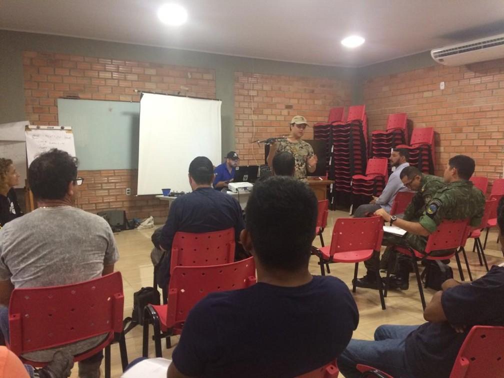 Treinamento para uso de drones aconteceu durante três dias em Porto Velho.  — Foto: Ana Kézia Gomes/G1