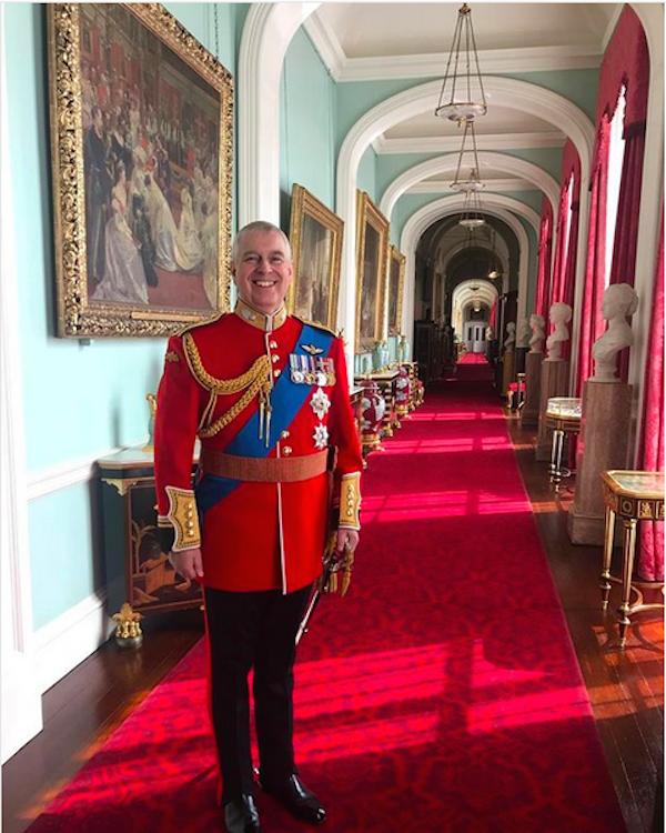 A foto do Príncipe Andrew compartilhada por sua filha, a Princesa Eugenie (Foto: Instagram)