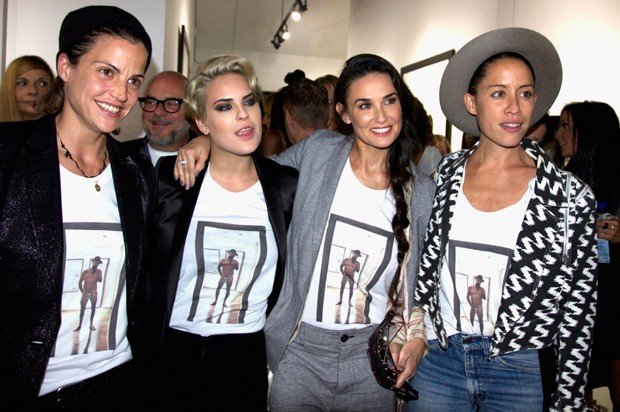 Masha Mandzuka, Tallulah Willis, Demi Moore e Anda Gentile em 2014 (Foto: Getty Images)