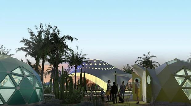 O primeiro projeto da startup é uma vila para sem tetos em Los Angeles (Foto: Divulgação)