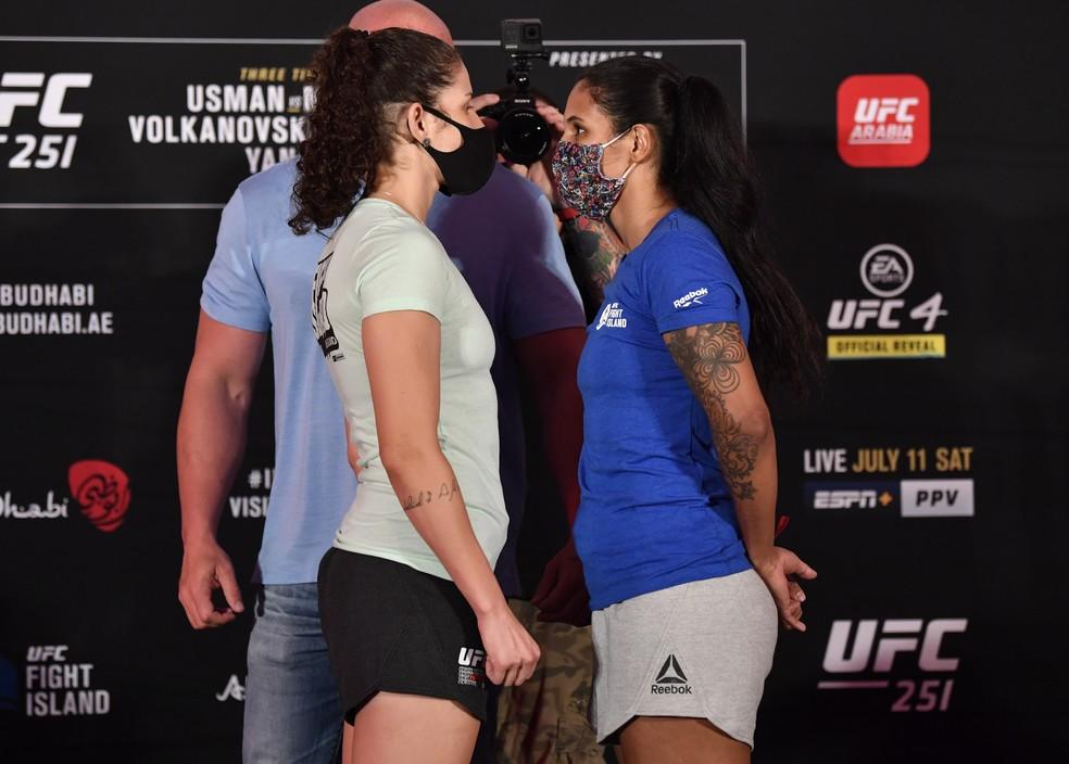Karol Rosa Vanessa Mello encarada UFC 251 — Foto: Getty Images