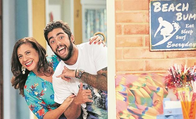 Catarina Abdalla e Pedro Scooby (Foto: Guto Costa / Multishow)