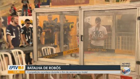 Combate de robôs em Santa Rita do Sapucaí reúne estudantes da América do Sul