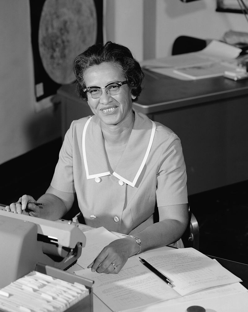 Katherine Coleman Goble Johnson, matemática que trabalhou na NASA. Imagem de 1966 (Foto: NASA; restored by Adam Cuerden/Wikipedia Commons)