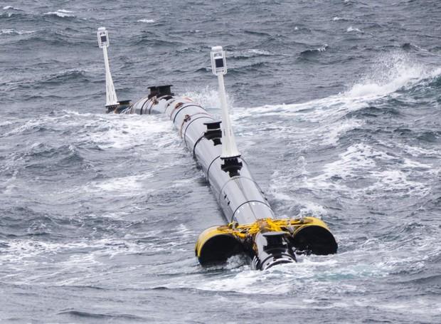 Primeiros testes do tubo The Ocean Cleanup (Foto: The Ocean Cleanup/Divulgação)