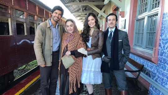 Nos bastidores das gravações na serra gaúcha, elenco fala sobre a novela 'Tempo de Amar'