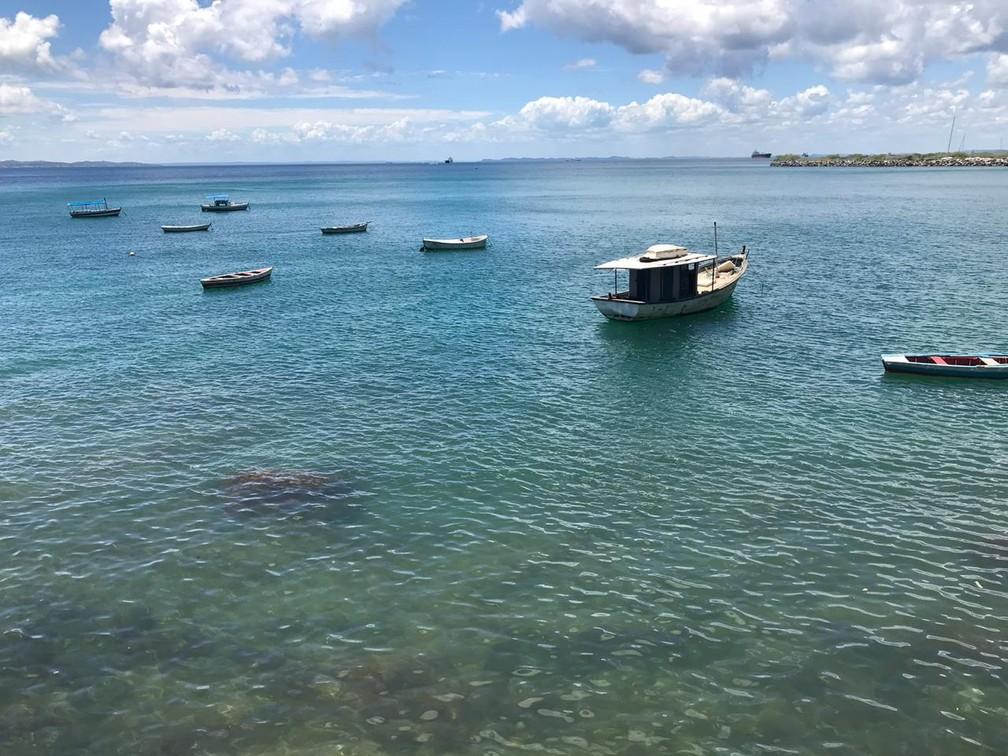 Praia da Gamboa, em Salvador — Foto: Itana Alencar/G1