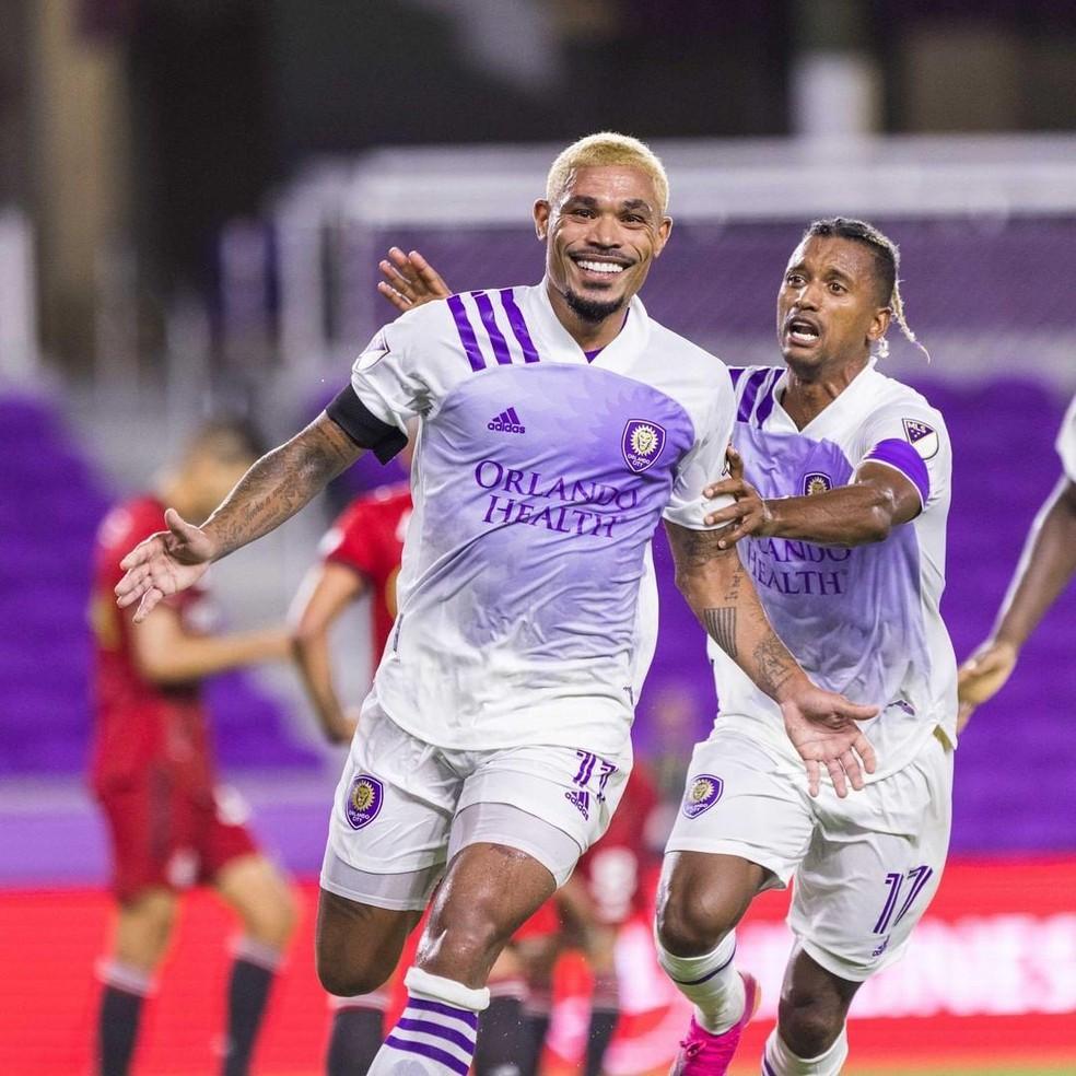 Júnior Urso comemora gol pelo Orlando City — Foto: Divulgação/Orlando City