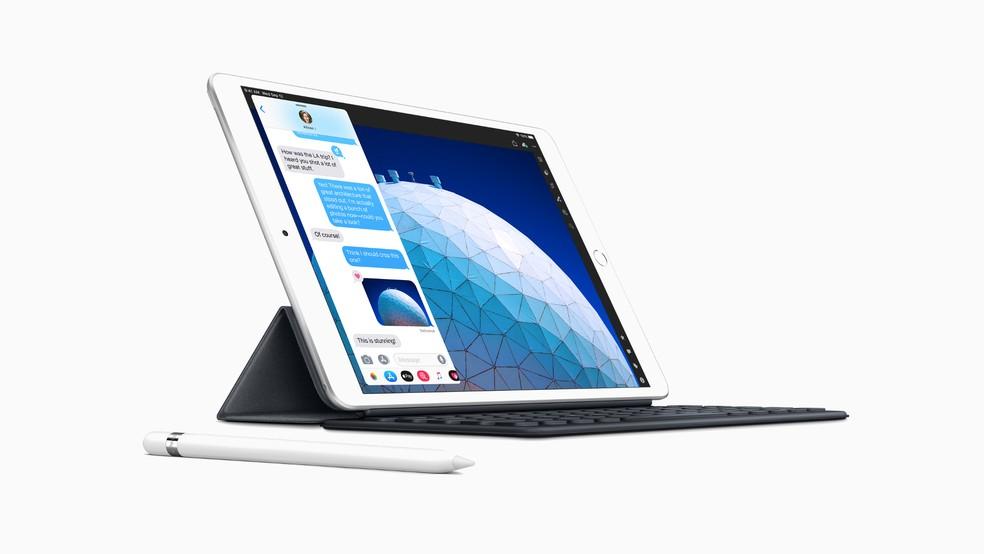 iPad Air passa a funcionar com a Apple Pencil e oferecer suporte ao teclado Smart Keyboard — Foto: Divulgação/Apple