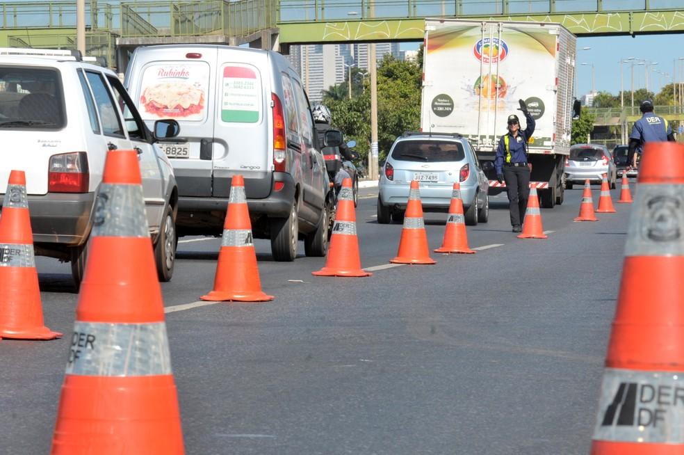 Operação de fiscalização de órgãos de trânsito do DF. (Foto: Divulgação/Agência Brasília)