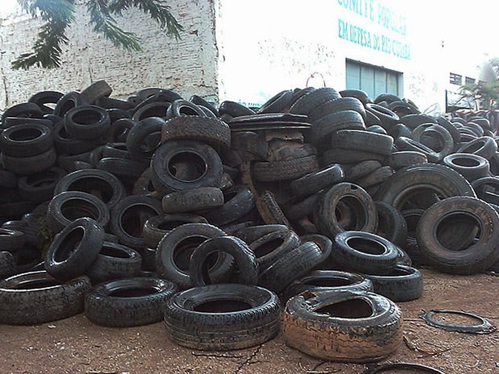 40 mil toneladas de pneus são recicladas em MT — Foto: Iara Vilela