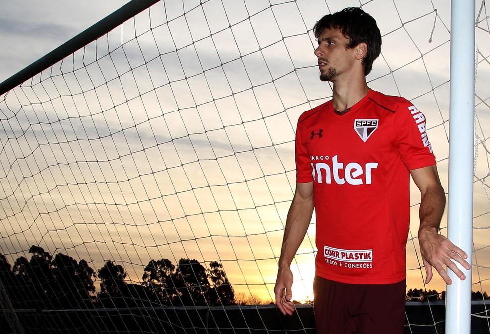 Rodrigo Caio em treino do São Paulo no CT (Foto: Rubens Chiri / saopaulofc.net)