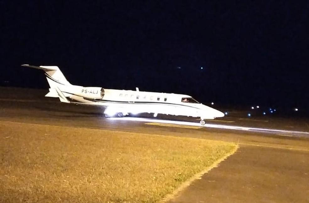 Vereador Claudinei Millan Pessoa (PP), de Dracena, foi transferido de avião para um hospital particular de São Paulo para tratamento da Covid-19 — Foto: Edenilton Milla/Cedida