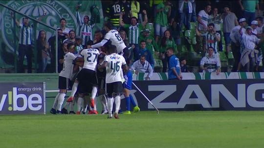 Os gols de Coritiba 2 x 1 Criciúma pela 3ª rodada do Brasileirão série B