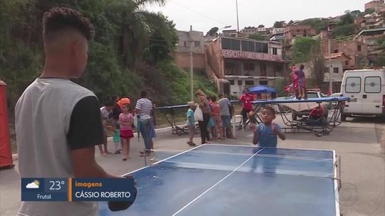 Projeto 'Viva a Rua' leva diversão e prestação de serviço a Sabará