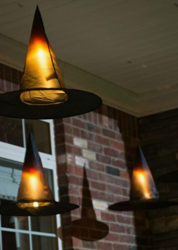 Halloween: Lanterna de chapéu flutuante (Foto: Pinterest/Reprodução)