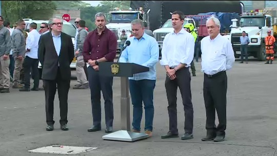 AO VIVO: Guaidó lidera comboio com mantimentos para tentar cruzar fronteira, na Colômbia