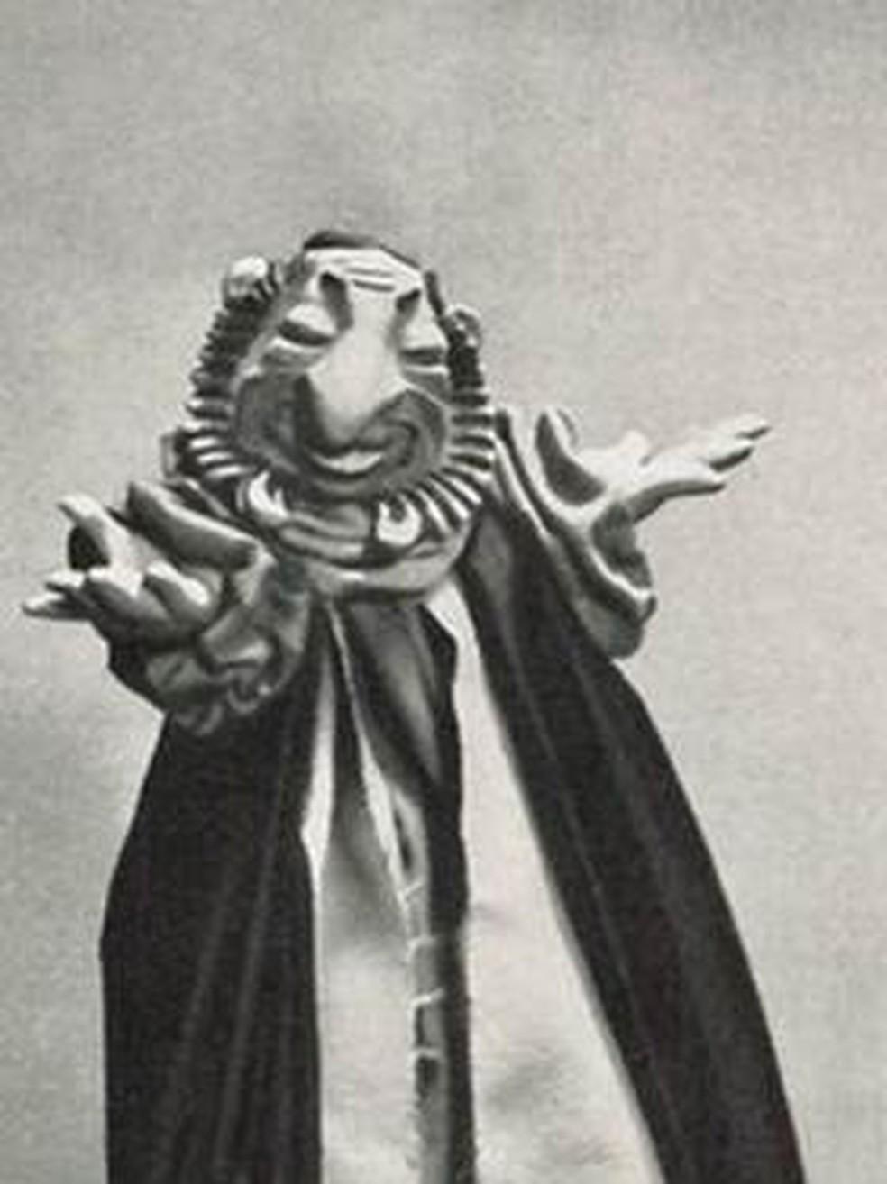 O 'fantoche judeu' era utilizado em apresentações de propaganda para organizações partidárias nazistas. — Foto: Arquivo pessoal (via BBC)