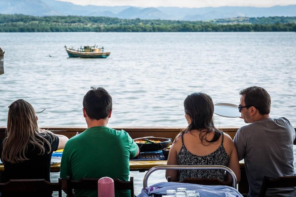 Paisagem da Ilha das Caieiras é atração em festival, em Vitória  — Foto: Diego Alves/ PMV