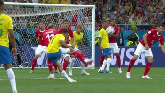 Assista aos gols do empate do Brasil com a Suíça na estreia na Copa