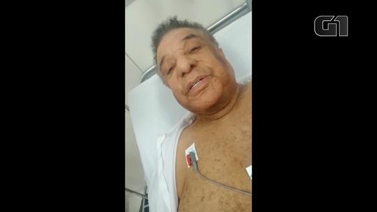 'Não me senti seguro', diz Agnaldo Timóteo em vídeo feito dentro de UPA para anunciar suspensão de show na Bahia