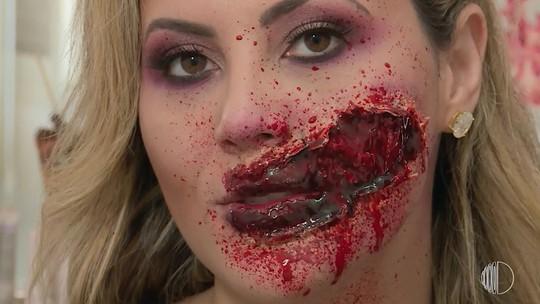 Tutorial de maquiagem de Halloween com o que você tem em casa!