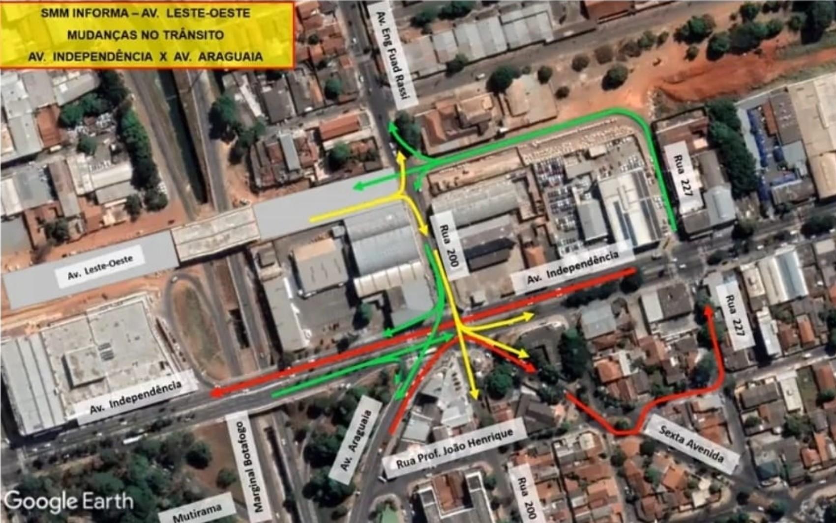 Prefeitura inaugura trecho da Avenida Leste Oeste e viaduto na região da 44 em Goiânia; veja mudanças no trânsito