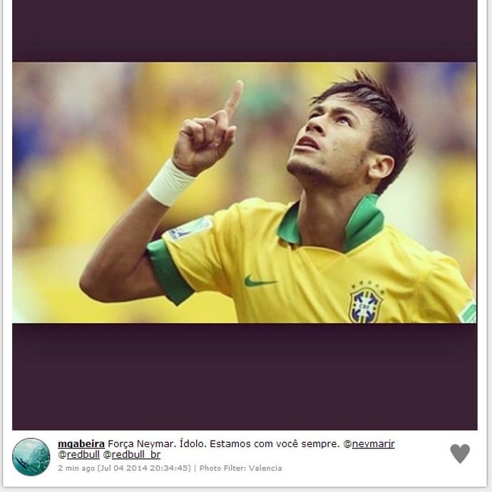Instagram - Maya Gabeira deseja força a Neymar (Foto: Reprodução / Instagram)