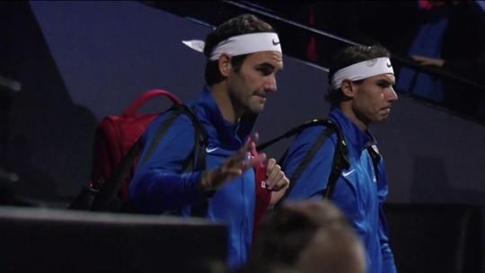 Com dupla de Federer e Nadal, Copa Laver diverte fãs do tênis