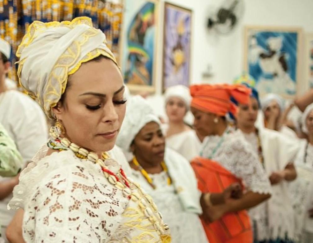 Gabriela Beck no Centro Cultural Eyin Osun, na Zona Leste de SP — Foto: Arquivo Pessoal/Divulgação