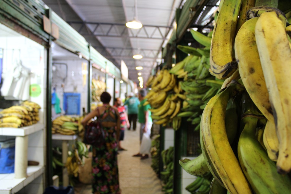 Banana ficou em segundo lugar na alta de preços da cesta básica em Salvador (Foto: Reprodução)