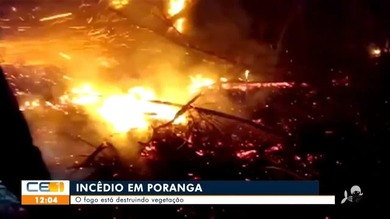 Continua combate a incêndios em Poranga