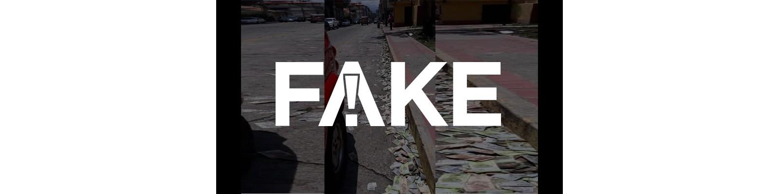E #FAKE que foto mostre dinheiro jogado no meio da rua na Itália em meio à pandemia do coronavírus
