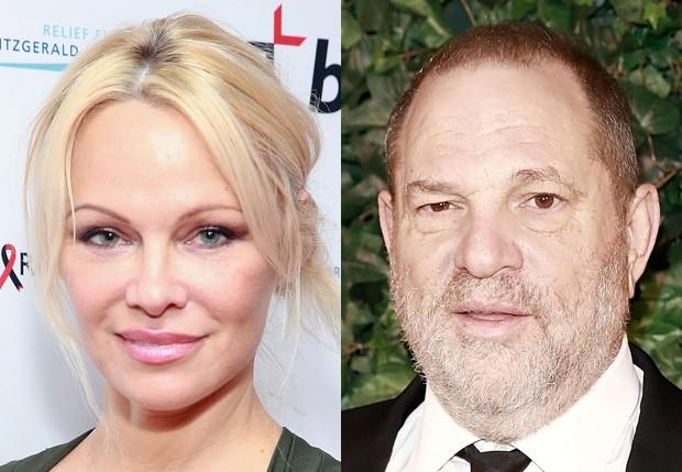 Pamela Anderson e Harvey Weinstein (Foto: Getty Images)