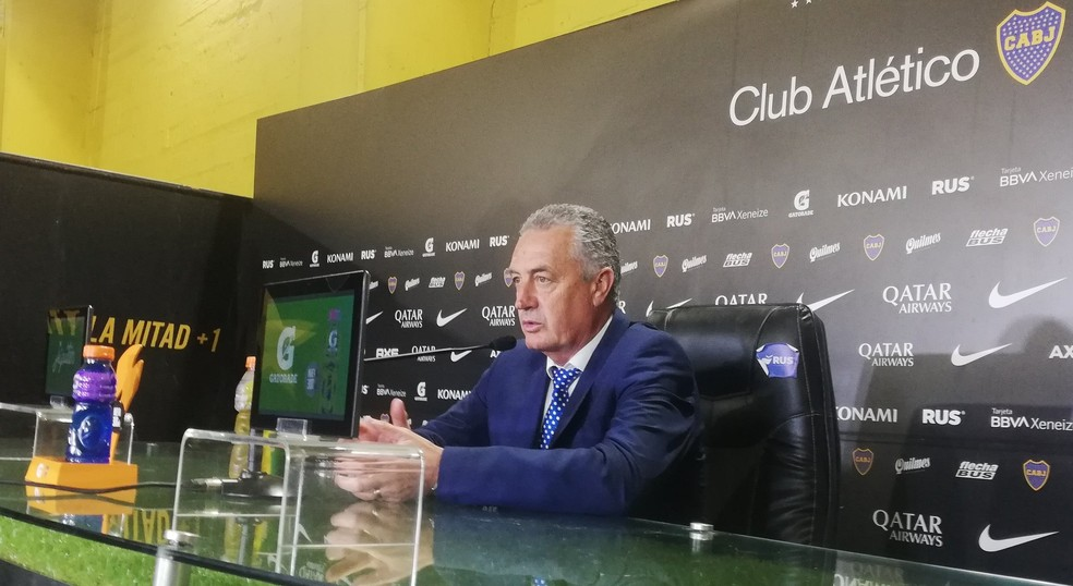 Gustavo Alfaro , técnico do Boca Juniors — Foto: Site oficial do Boca
