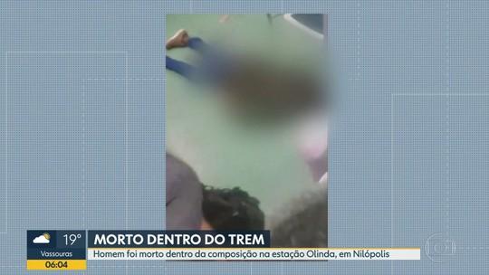 Agente penitenciário reage e mata suspeito de assalto dentro de trem em Nilópolis, RJ