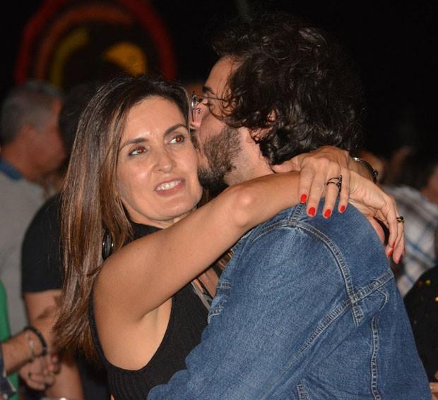 Fátima Bernardes e Túlio Gadêlha  (Foto: Felipe Souto Maior/AgNews)