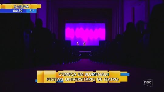 Blumenau recebe 31º Festival Internacional de Teatro Universitário
